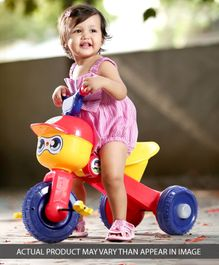 Babyhug Skipper Foldable Tricycle - Red Yellow