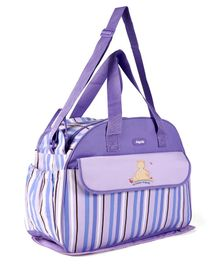 Baby Diaper Bag With Changing Mat - Purple