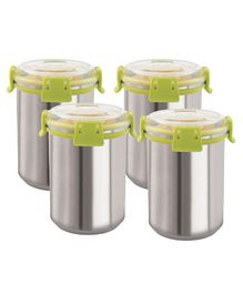 Magnus Airtight Food Storage Containers Set of 4 Green - 1000 ml each