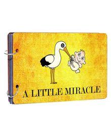 Studio Shubham Wooden Scrapbook Album Miracle Print - Yellow