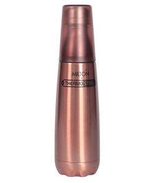 Milton Vertex Thermosteel Water Bottle With Tumbler Brown - 750 ml