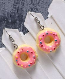 Babyhug Donut Shape Earrings - Yellow Pink