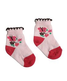 Morisons Baby Dreams Ankle Length Socks Butterfly Design Pack of 3 - Pink