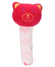 Babyhug Panda Face Rattle Cum Soft Toy - Red & White