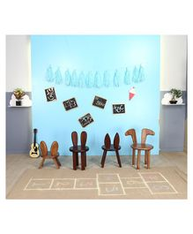 Arcedo Tom & Jerry Themed Wooden Pluto Chair - Brown
