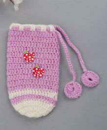 Buttercup from Knitting Nani Bottle Cover Apple Motifs Purple - Fits Upto 260 ml