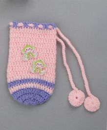 Buttercup From Knitting Nani Monkey Motifs Bottle Cover - Pink
