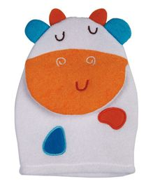 Panache Cow Shaped Baby Bath Glove - White