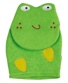 Panache Frog Shaped Baby Bath Glove - Green