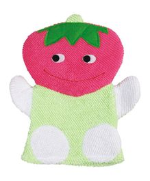 Panache Fruit Shaped Baby Bath Glove - Pink Green
