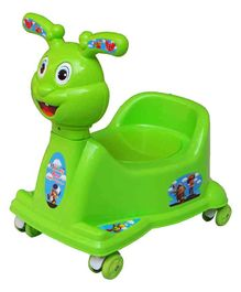 Ehomekart Rabbit Potty Trainer Cum Ride-On With Wheels - Green