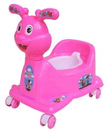 Ehomekart Rabbit Potty Trainer Cum Ride-On With Wheels - Pink
