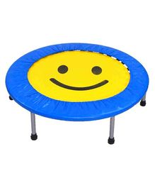 Ehomekart Trampoline Smiley Print Blue Yellow - 48 inches