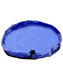 BabyMoon 2 in 1 Play Mat Cum Storage Bag Blue - Diameter 100 cm