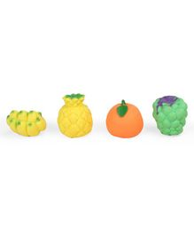 Kreative Kids Squeaky Bath Toys Fruits Pack of 4 - Multi Colour