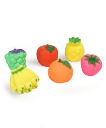 Kreative Kids Squeaky Bath Toys Fruits Pack of 6 - Multi Colour