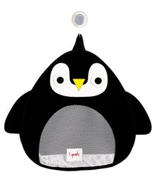 3 Sprouts Bath Storage Penguin - Black