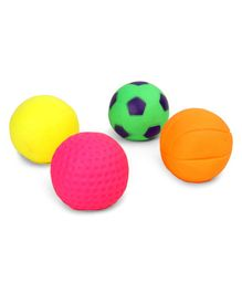 Kreative Kids Squeaky Bath Toys Ball Pack of 4 - Multi Colour