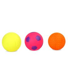 Kreative Kids Squeaky Bath Toys Ball Pack of 3 - Multi Colour