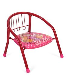 Barbie Chair With Backrest & Armrest - Red & Pink