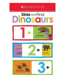 Scholastic Slide & Find Dinosaurs Early Learning Book - English