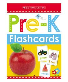 Scholastic Pre-K Flashcards Pack of 26 - English