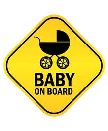 Fusion Graphix Baby On Board Sticker - Black & Yellow