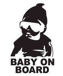 Fusion Graphix Baby On Board Sticker - Black