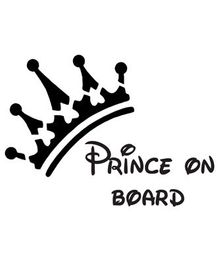 Fusion Graphix Prince On Board Sticker - Black