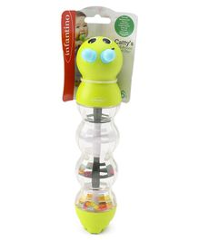 Infantino Catty's Roll Around Rattle With Beads - Green
