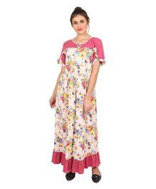 9teenAGAIN Floral Print Nursing Nighty - Pink 1ce6f884c