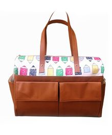 Strut Diaper Bag Pencil Print - Brown