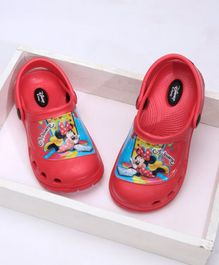 Cute Walk by Babyhug Clogs With Back Strap Minnie Mouse Design - Red