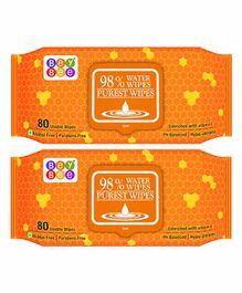 Bey Bee Water Wipes Pack of 2 - 80 Pieces Each