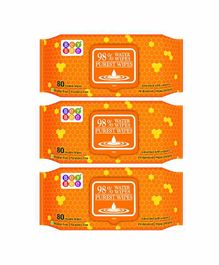 Bey Bee Water Wipes Pack of 3 - 80 Pieces Each