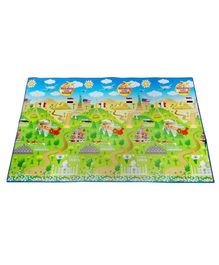 FashBlush Non Woven Free Play Mat Wonders Of The World Print - Multicolor
