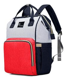 R for Rabbit Caramello Backpack Style Diaper Bag - Red Light Grey