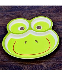 Quirky Monkey Frog Shape Melamine Feeding Plate - Green