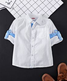 Babyhug Full Sleeves Solid Poplin Shirt - White