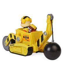 Paw Patrol Rubble Pup With Steam Roller - Yellow