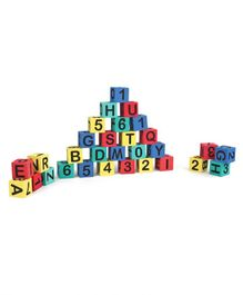 Sunta Learning Cubes, Alphabets & Number Blocks  Multi Color - 30 Pieces