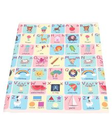 Sunta Waterproof Eva Baby Play & Crawl Roll Mat Alphabets With Pictures - Multicolor