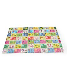 Sunta Waterproof Eva Baby Play & Crawl Roll Mat Numbers With Pictures - Multicolor
