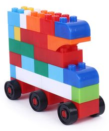 Sunta Basic Blocks In Bucket Multi Color - 62 Pieces