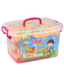 Curtis Toys Blocks set With Portable Plastic Container Multicolour - 198 pieces