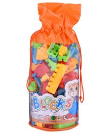 Curtis Toys Building Blocks With Bag Multicolour - 88 pieces