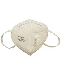 Honeywell PM 2.5 Anti Pollution Foldable Face Mask With Easy Exhalation Valve White - Pack of 5