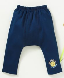 Babyhug Full Length Cotton Diaper Legging Forest King Print - Navy Blue c7a4979758