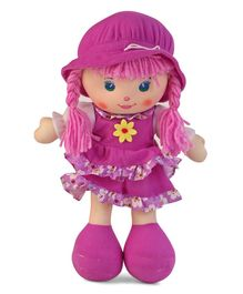 Karma Frill Dress Candy Doll Purple - Height 35 cm