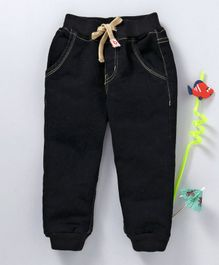 Babyhug Full Length Jogger Jeans - Black